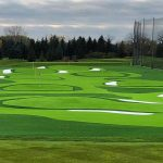 putting green for top golf course