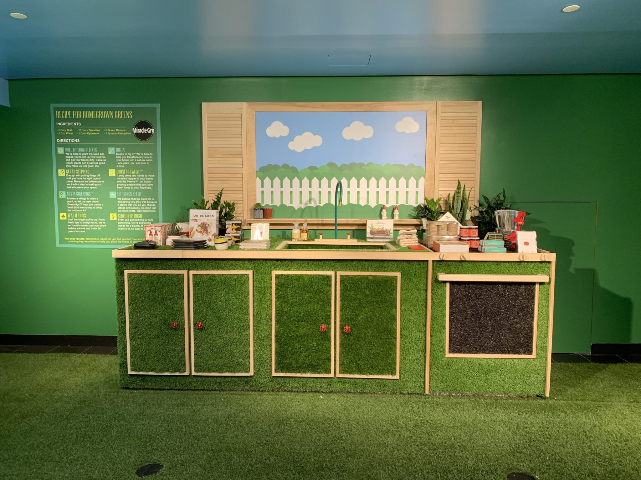 artificial grass for event commercial space