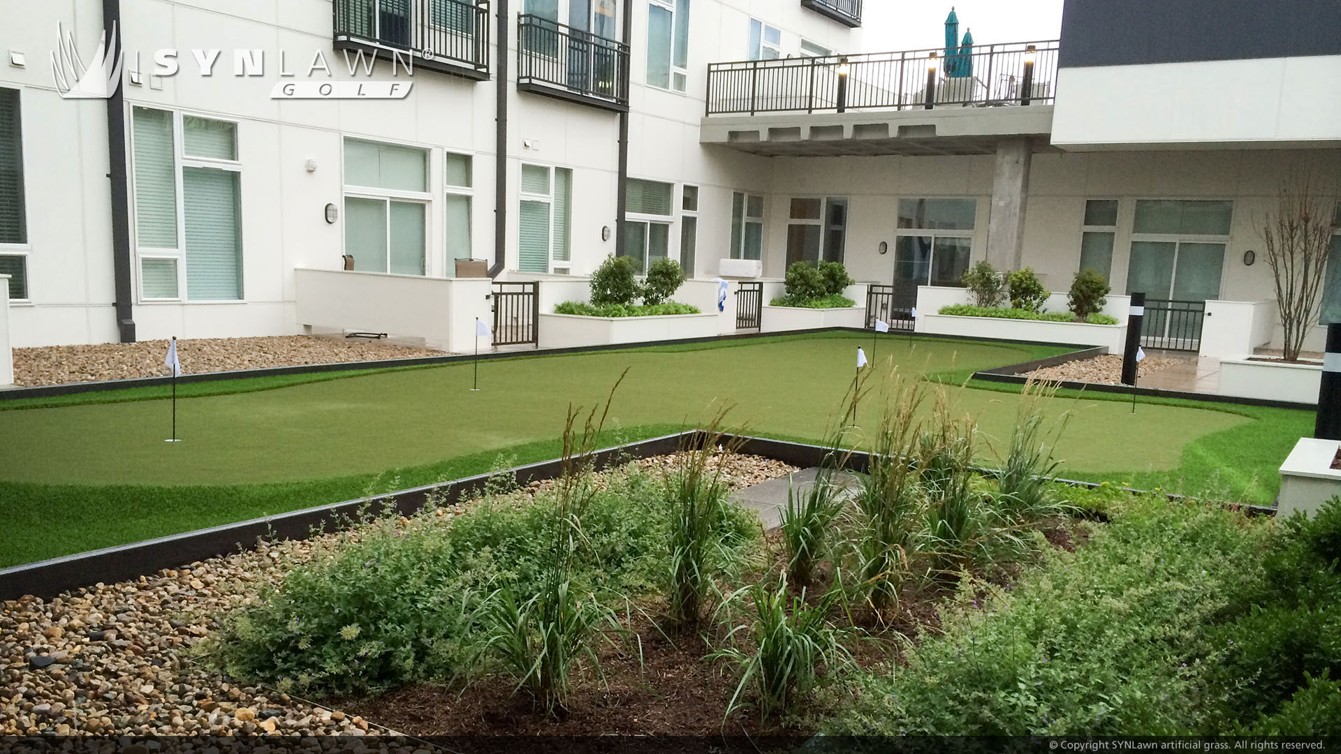putting green for apartment complex
