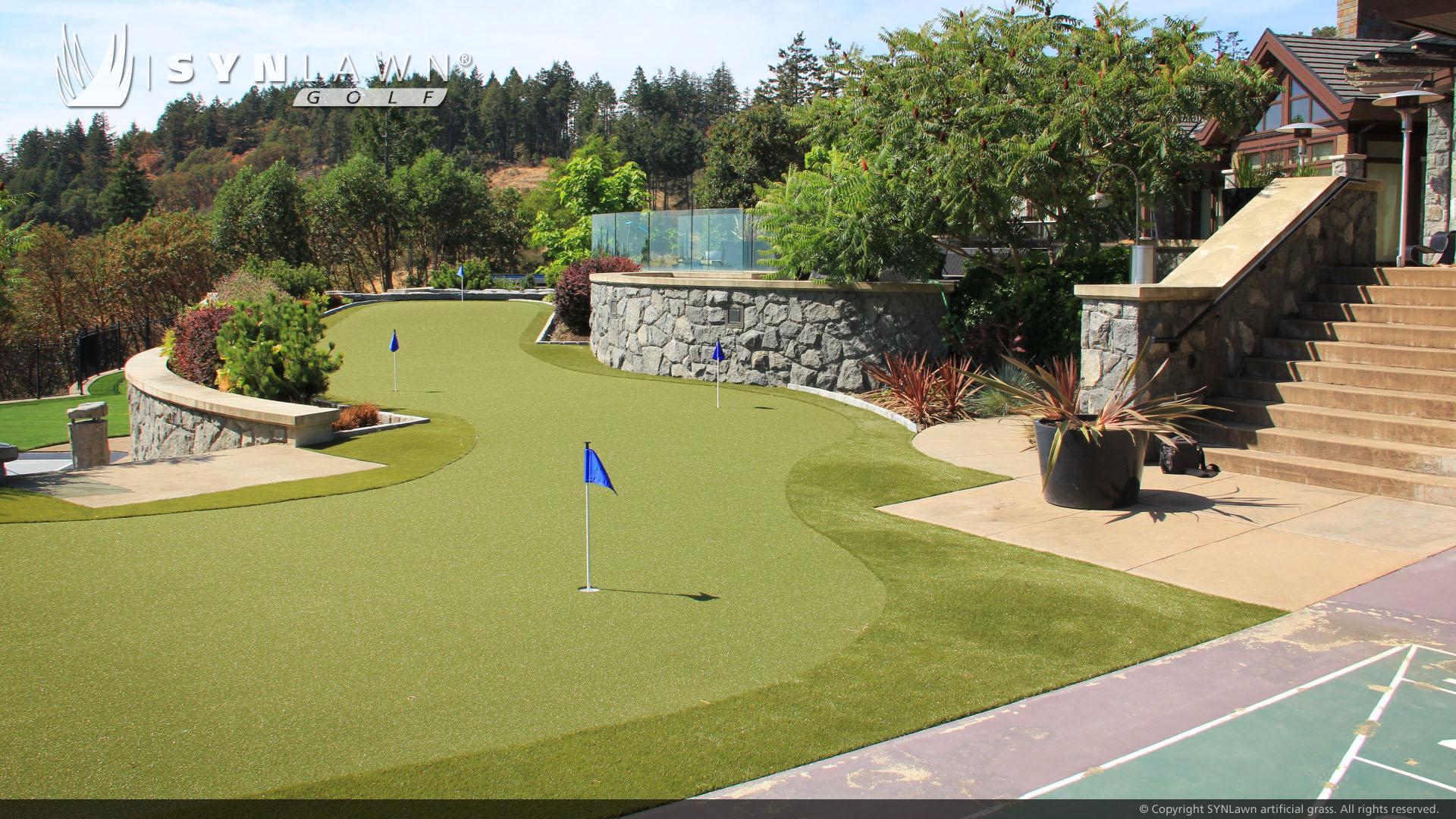 putting green artificial grass installation