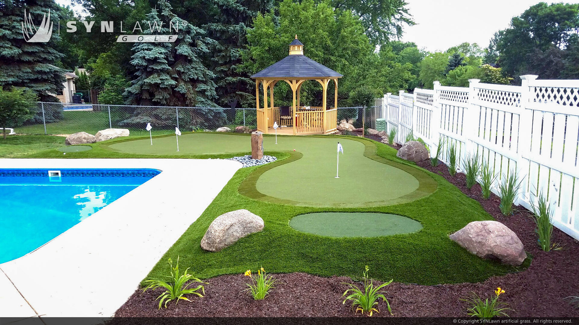 putting green in backyard commercial grass