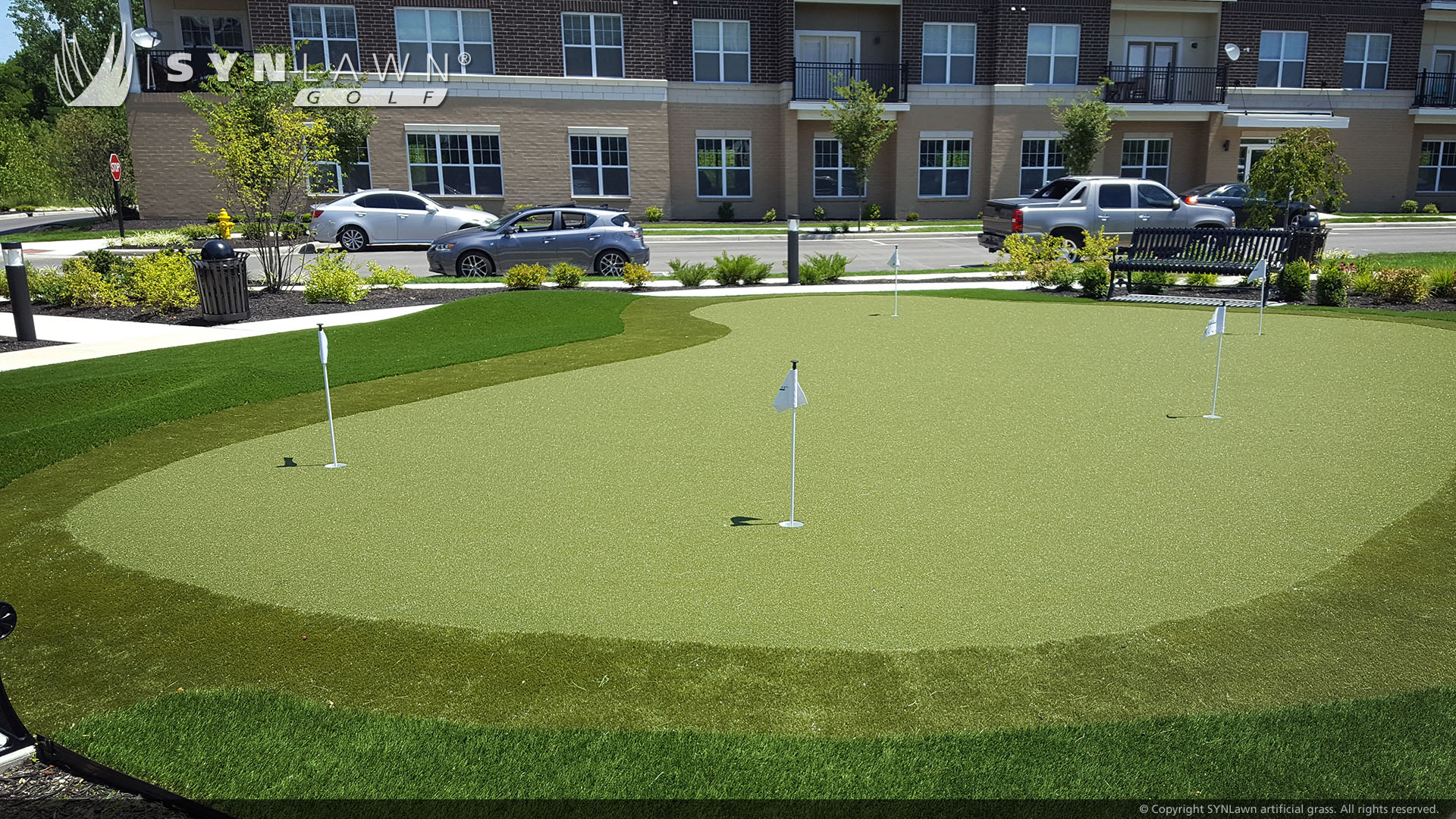 residential putting green, for residential community