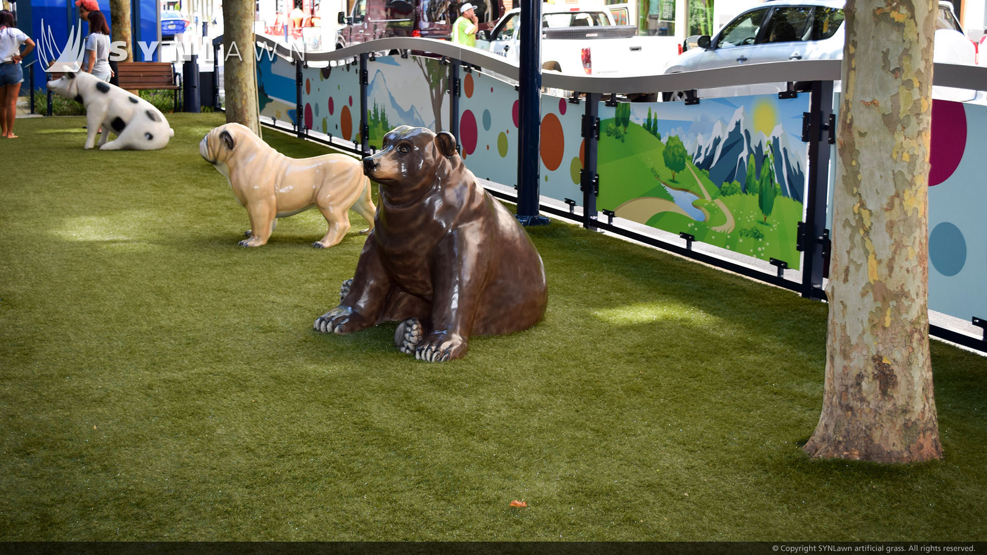 pet turf commercial installation