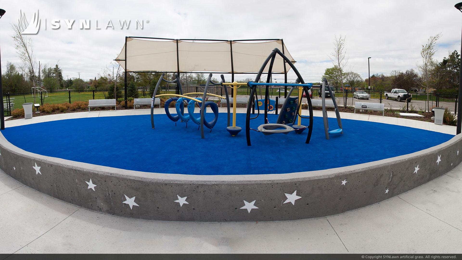 public playground artificial grass install