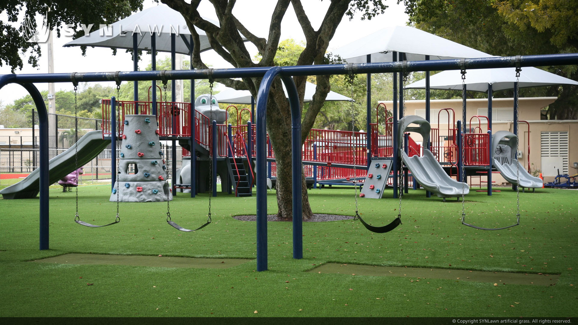 middle school artificial grass playground