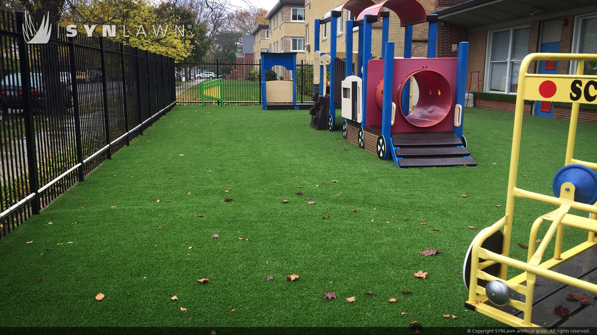 playground for nursery school artificial grass