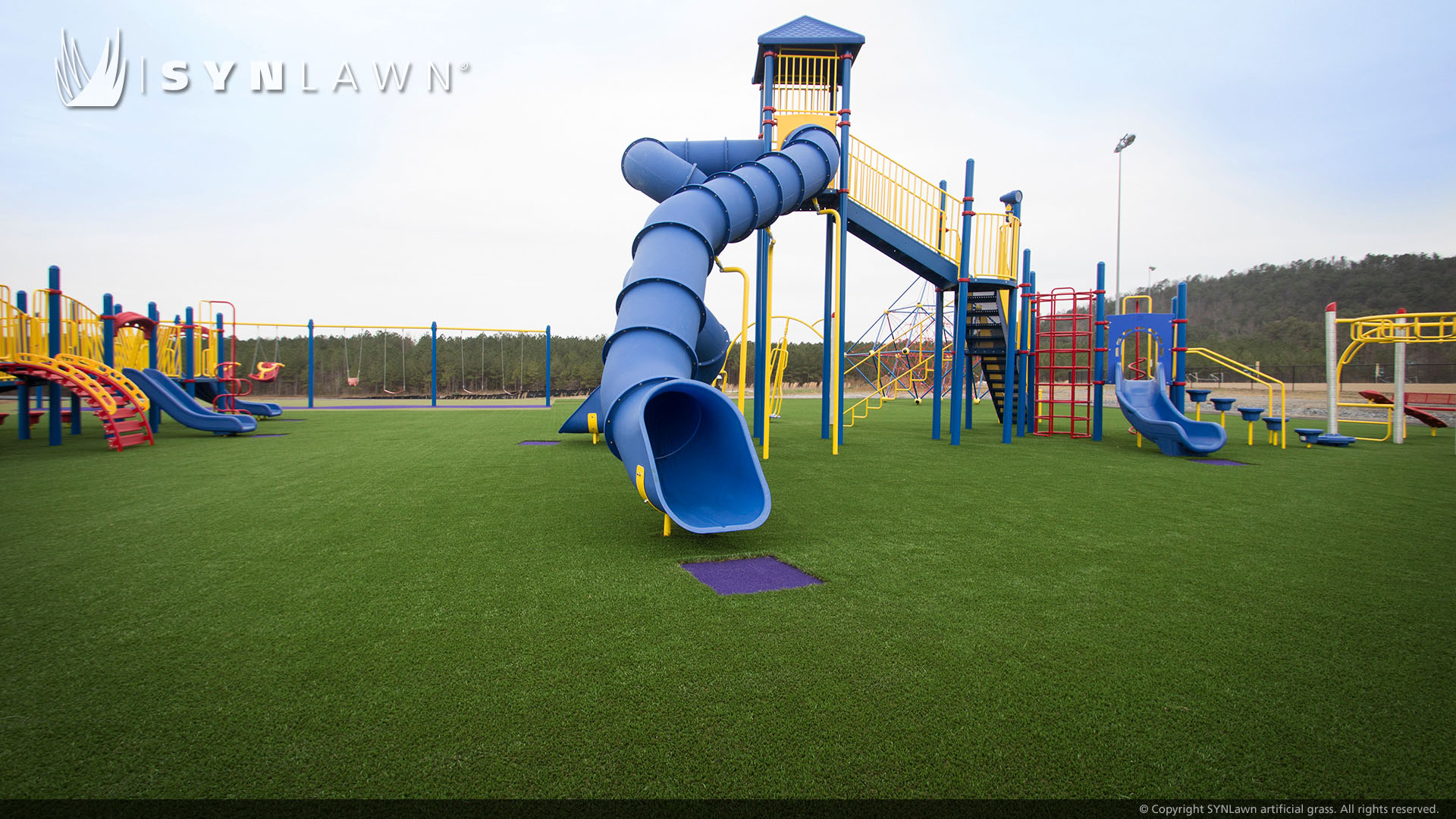 artificial lawn for playground