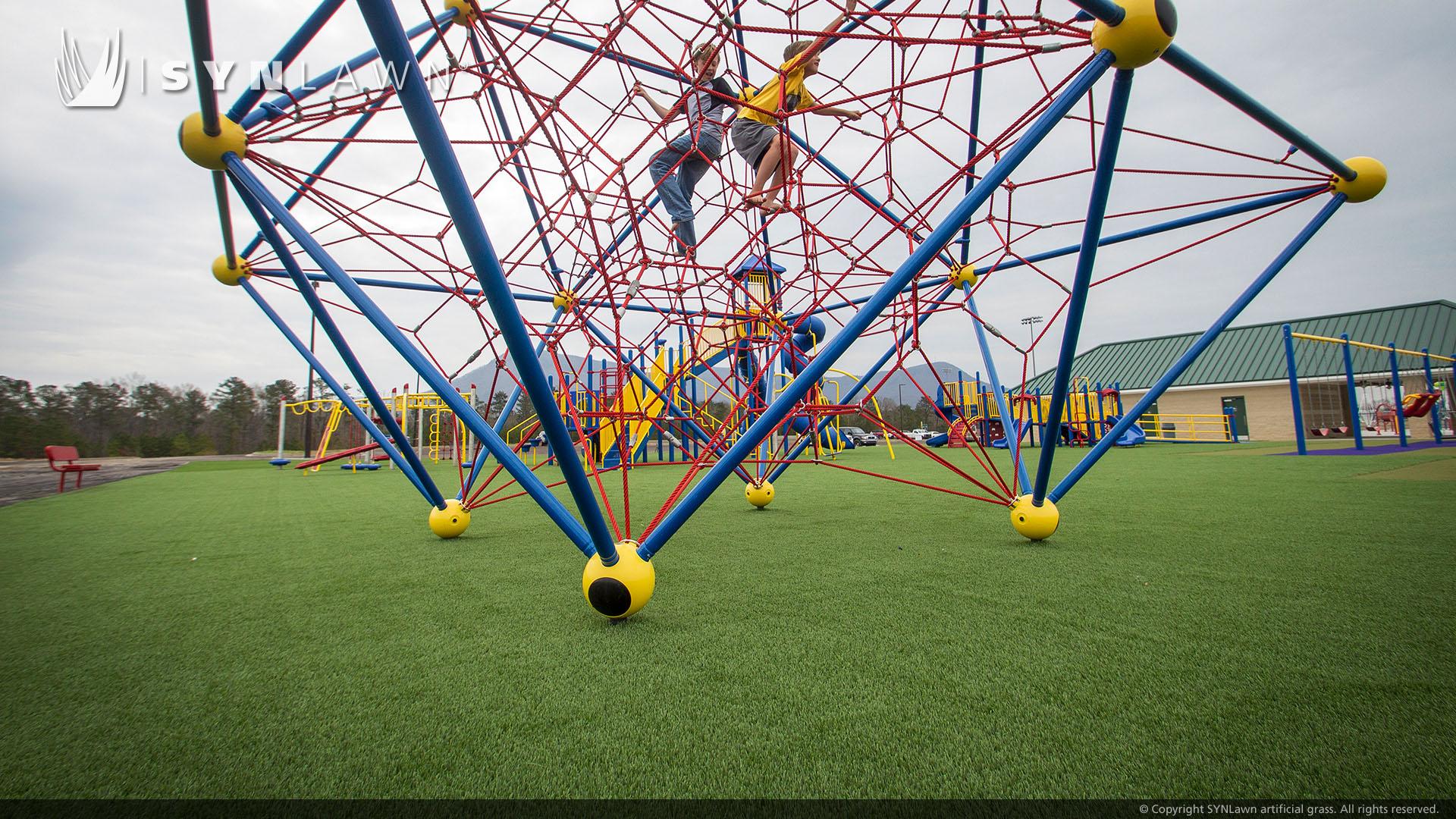 playground artificial grass public park