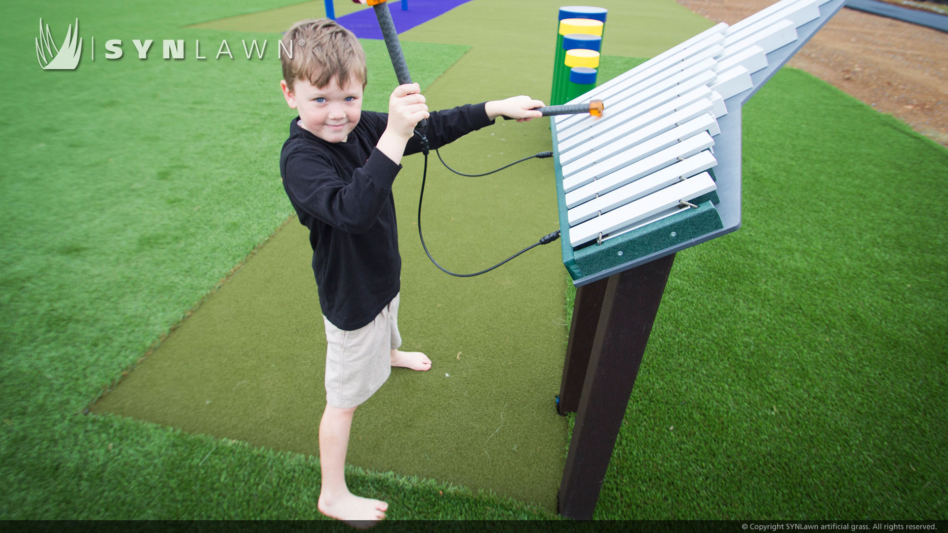 playground for school artificial grass install