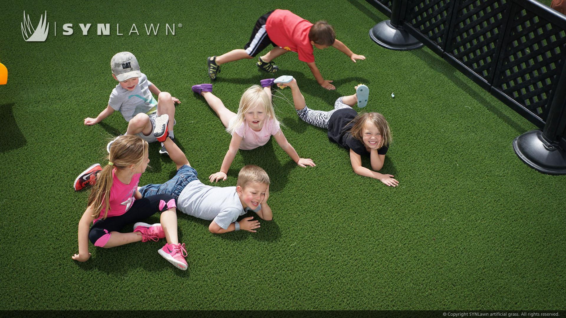 Playground artificial grass, school