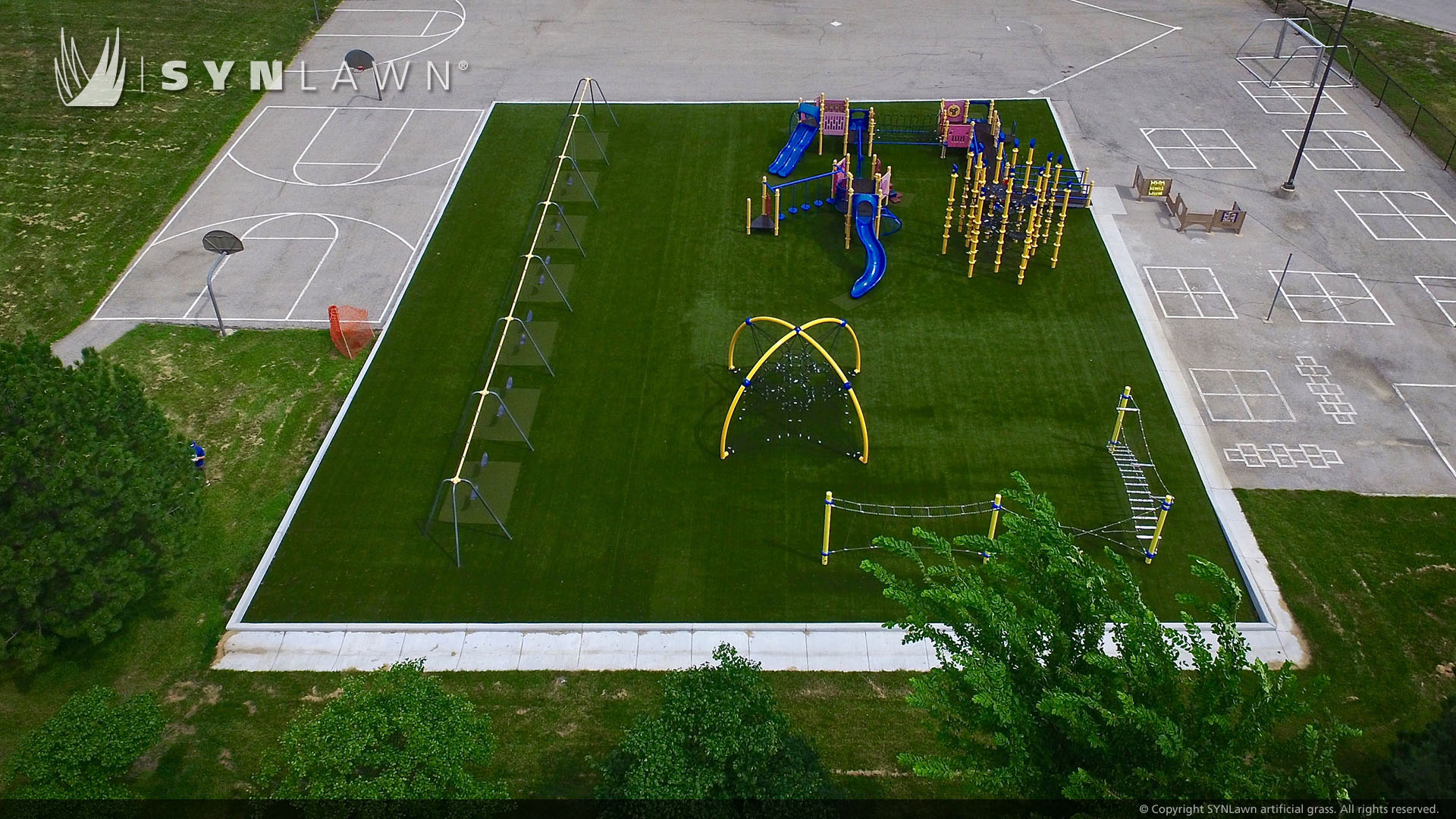 artificial grass, playground in Indiana