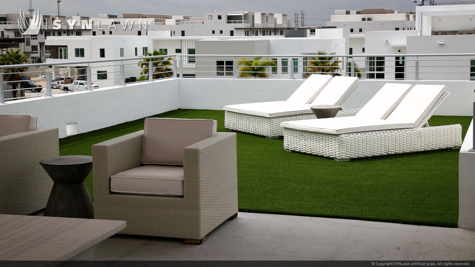 artificial grass installation residential rooftop