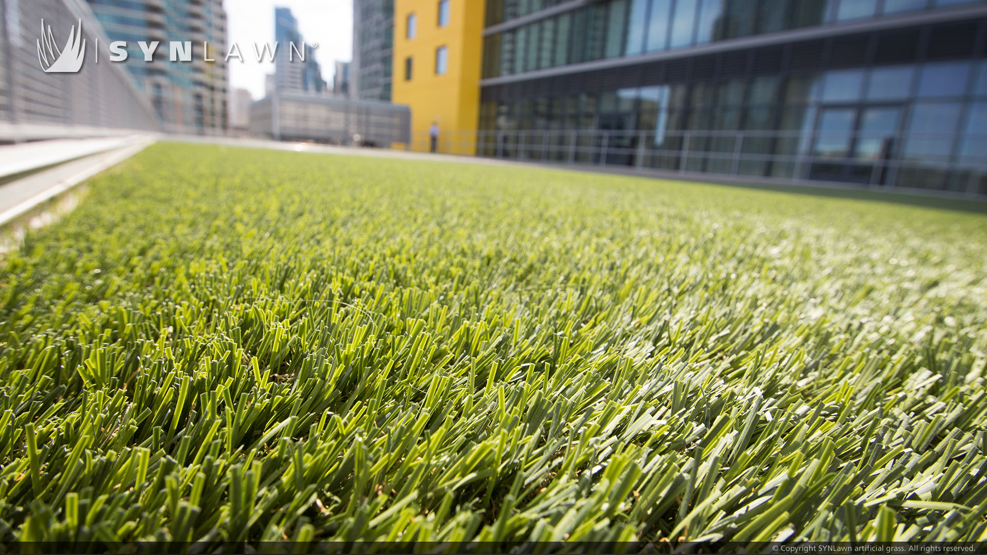 Indiana rooftop artificial grass