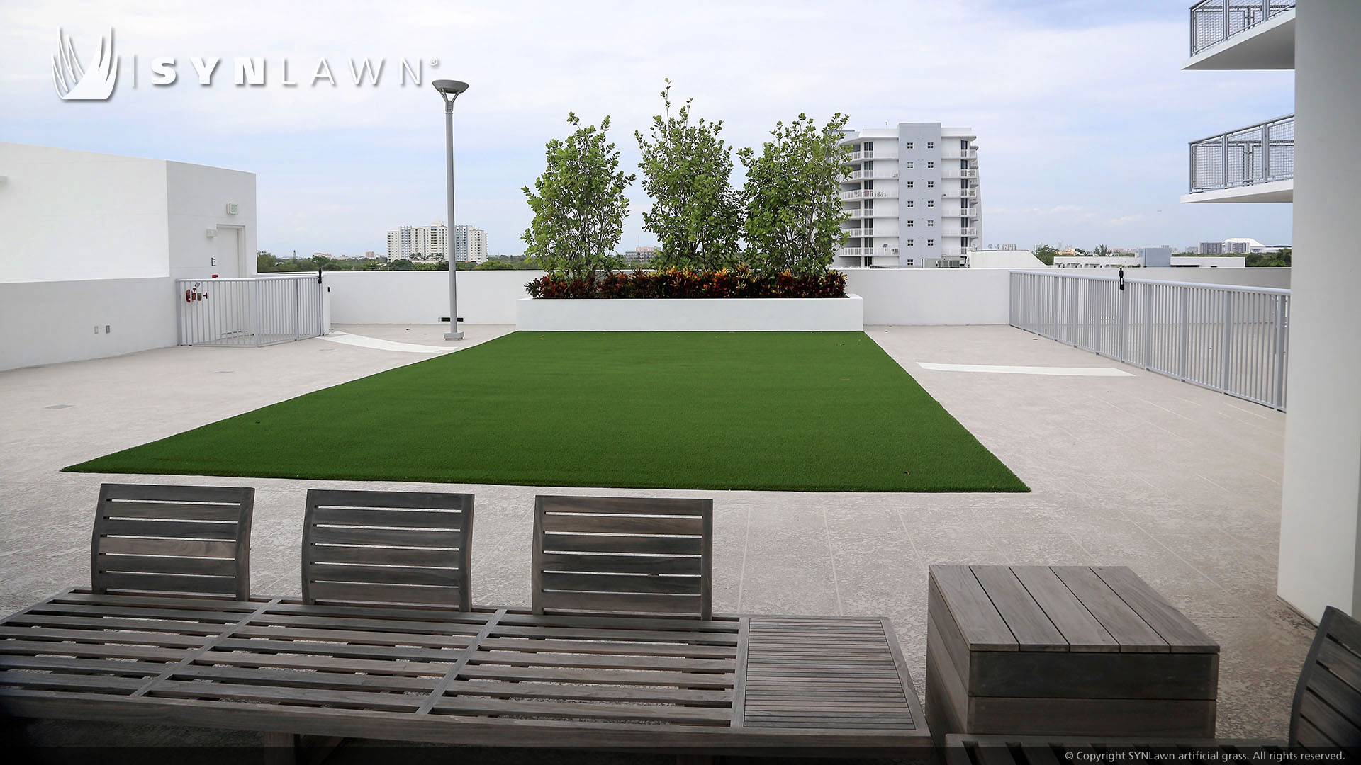 commercial rooftop artificial grass