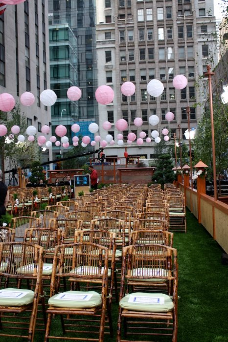 event venue with artificial lawn