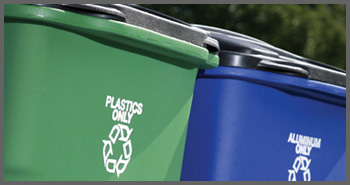 reuse recycle renew bins
