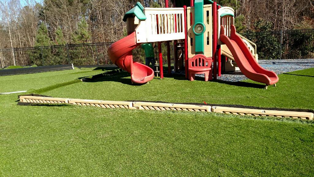 Artificial grass, for school playground in Indiana