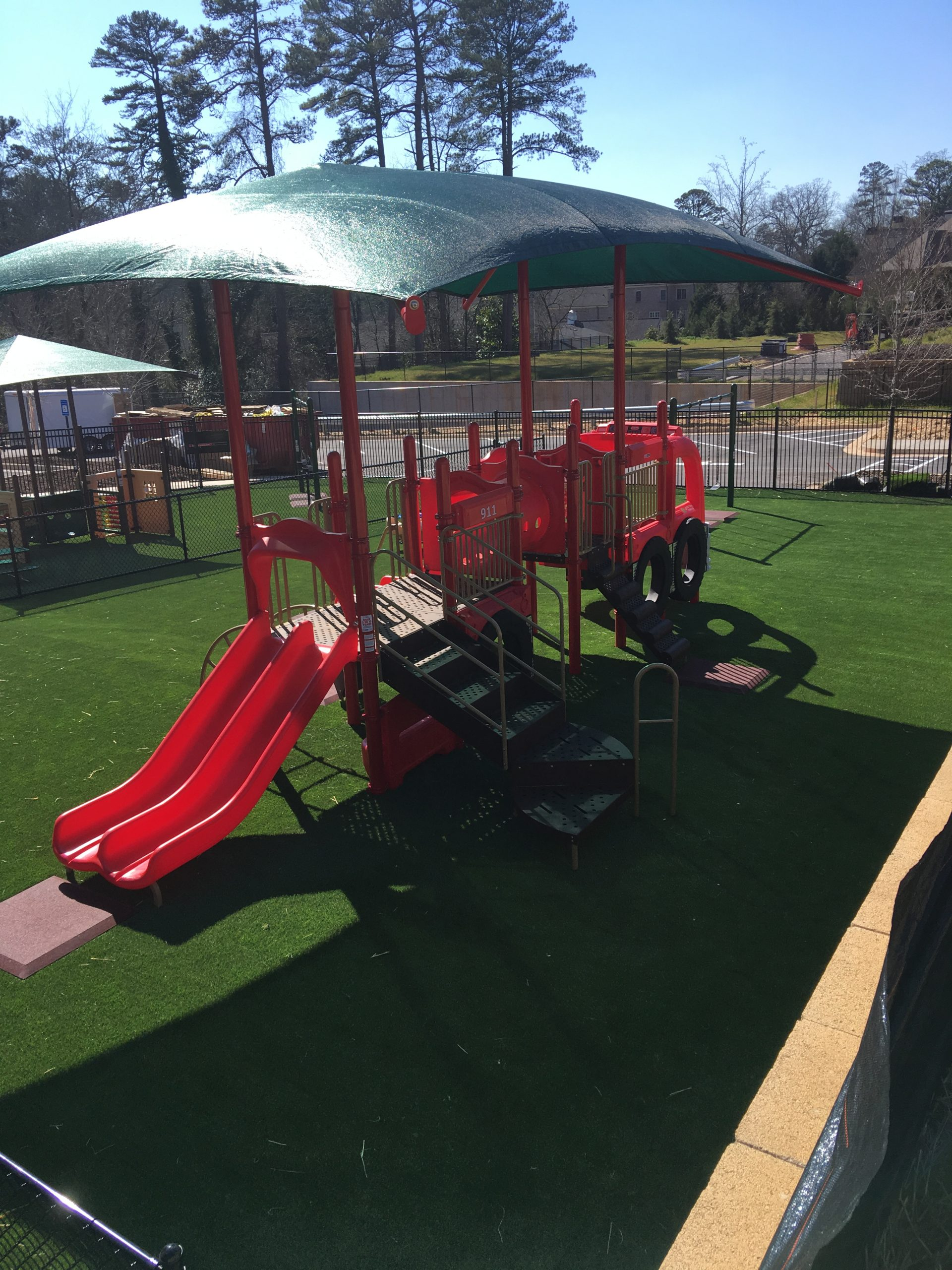 Turf artificial grass playground