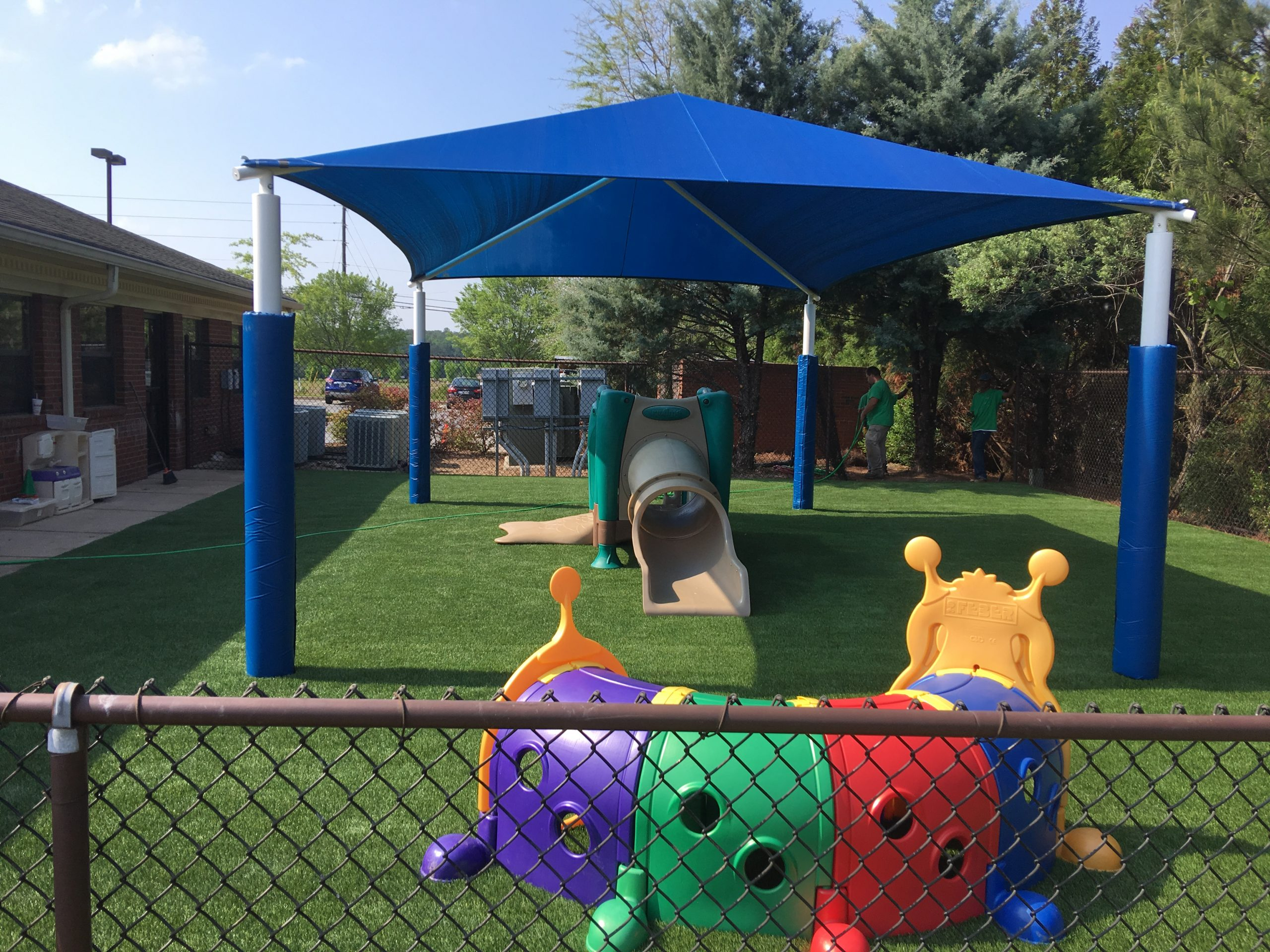 artificial grass in Indiana playground