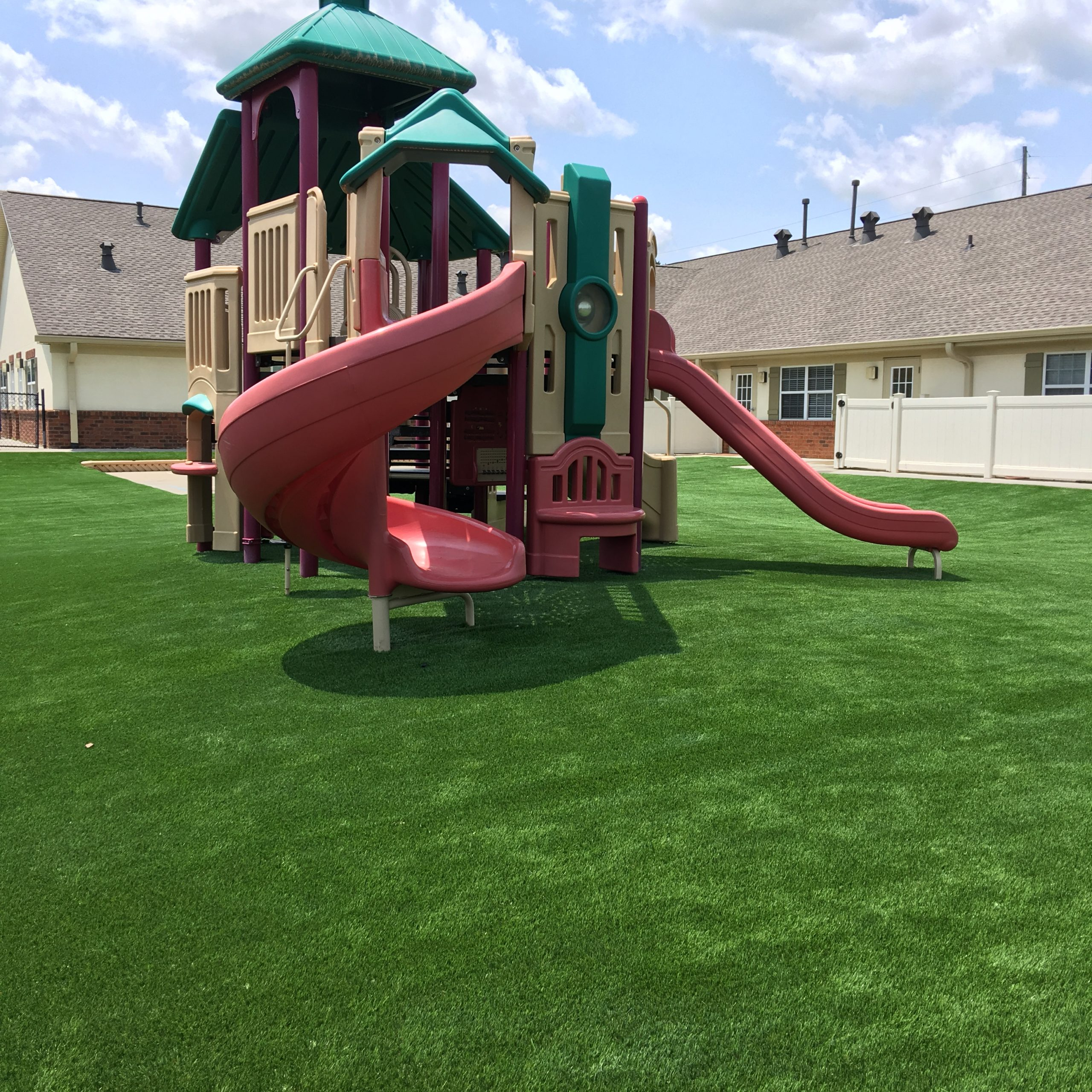 playground in Indiana with artificial grass