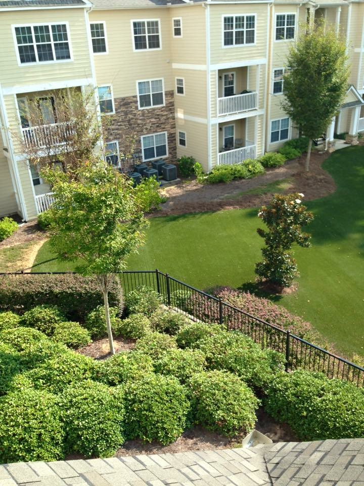 artificial grass for residential complex