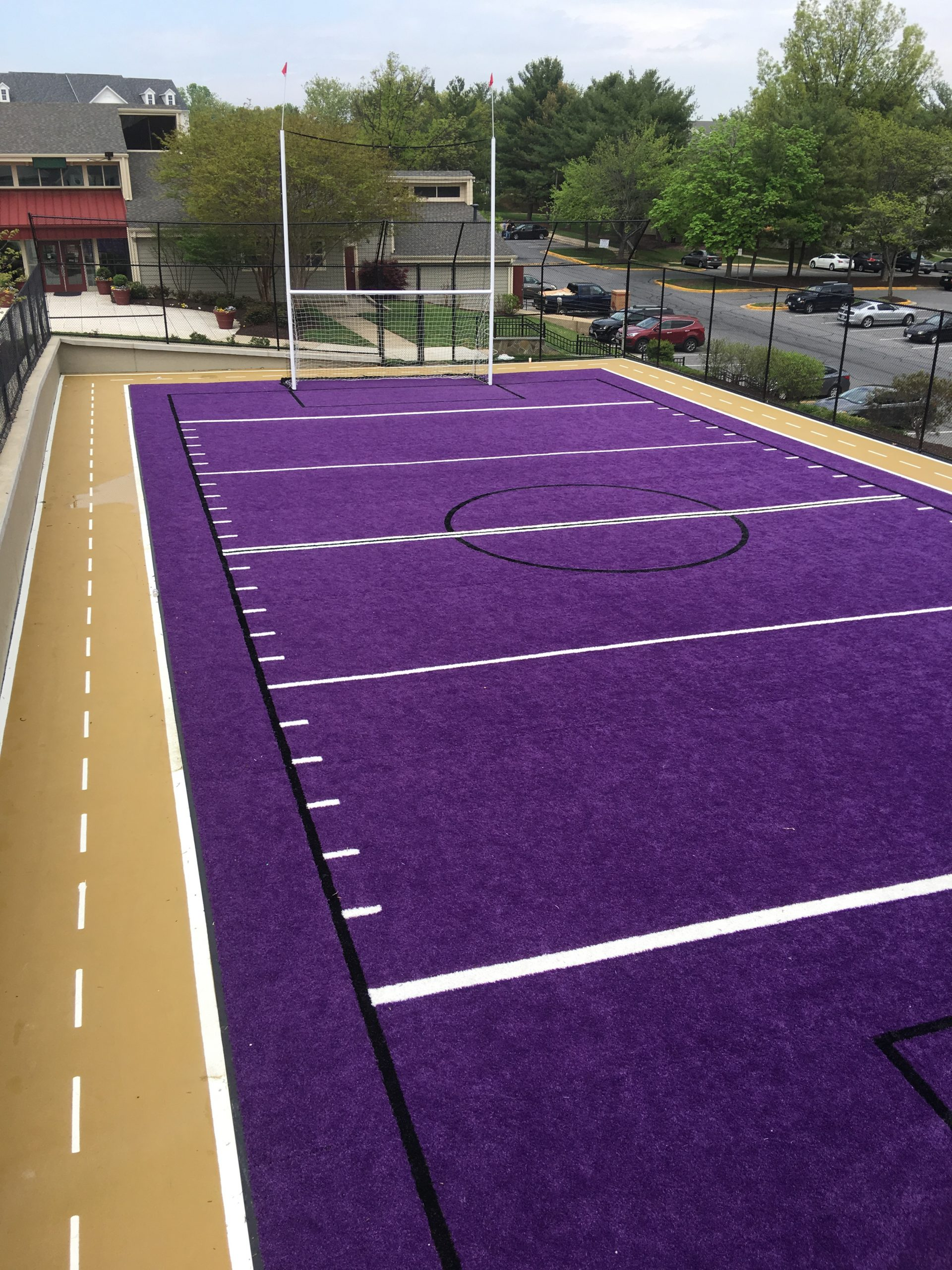 artificial grass for residential sports center