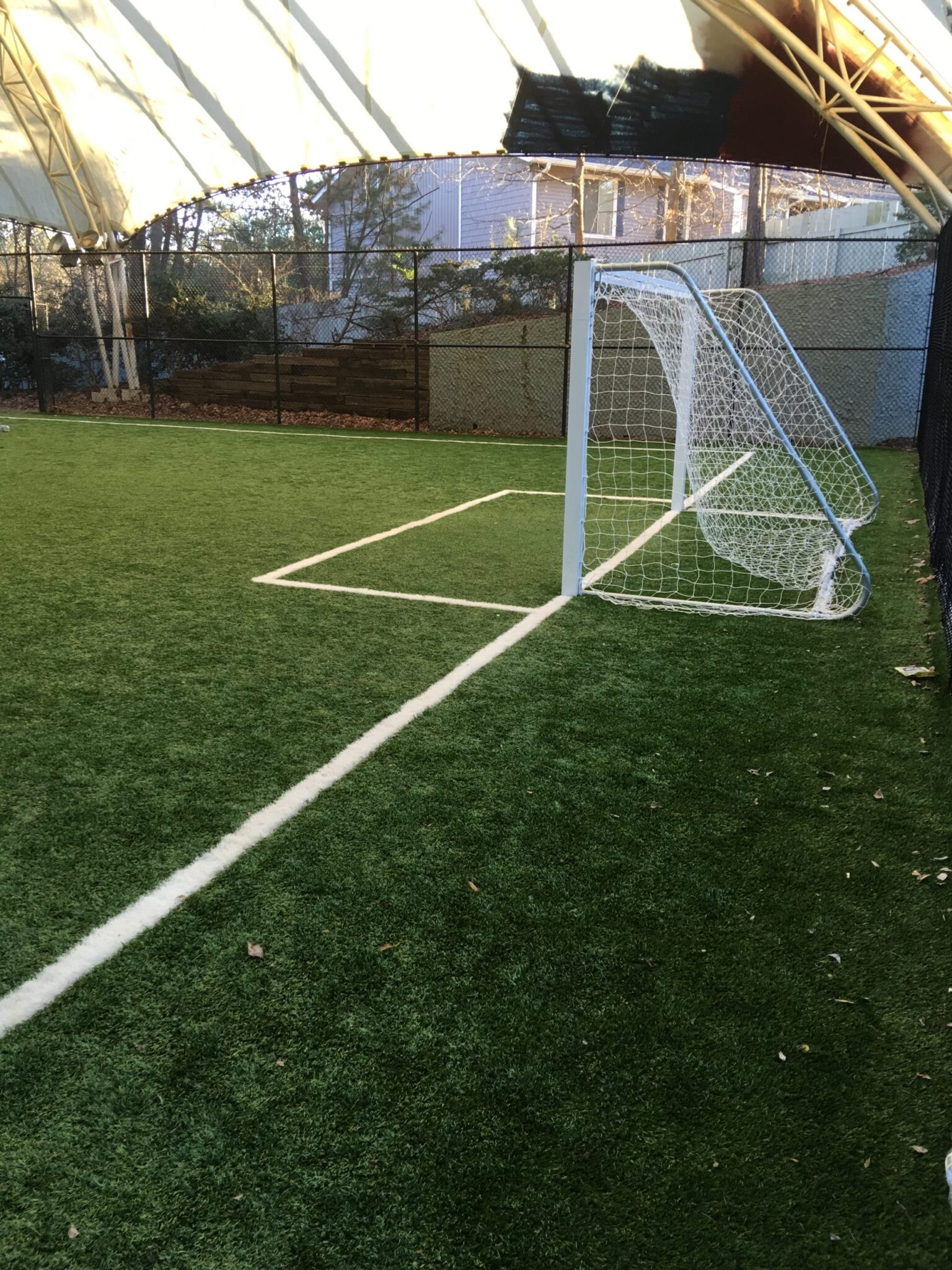 residential sports field with artificial turf