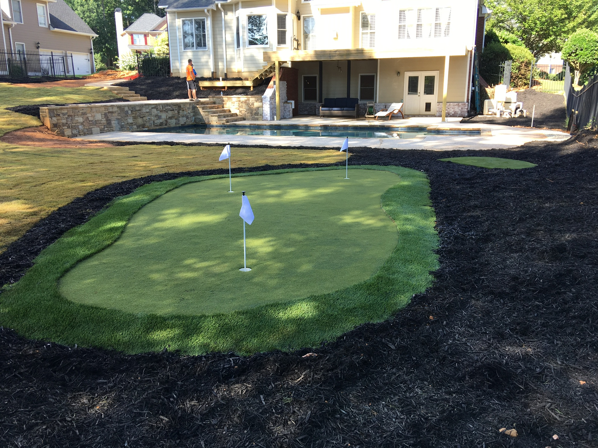 residential Indiana putting green