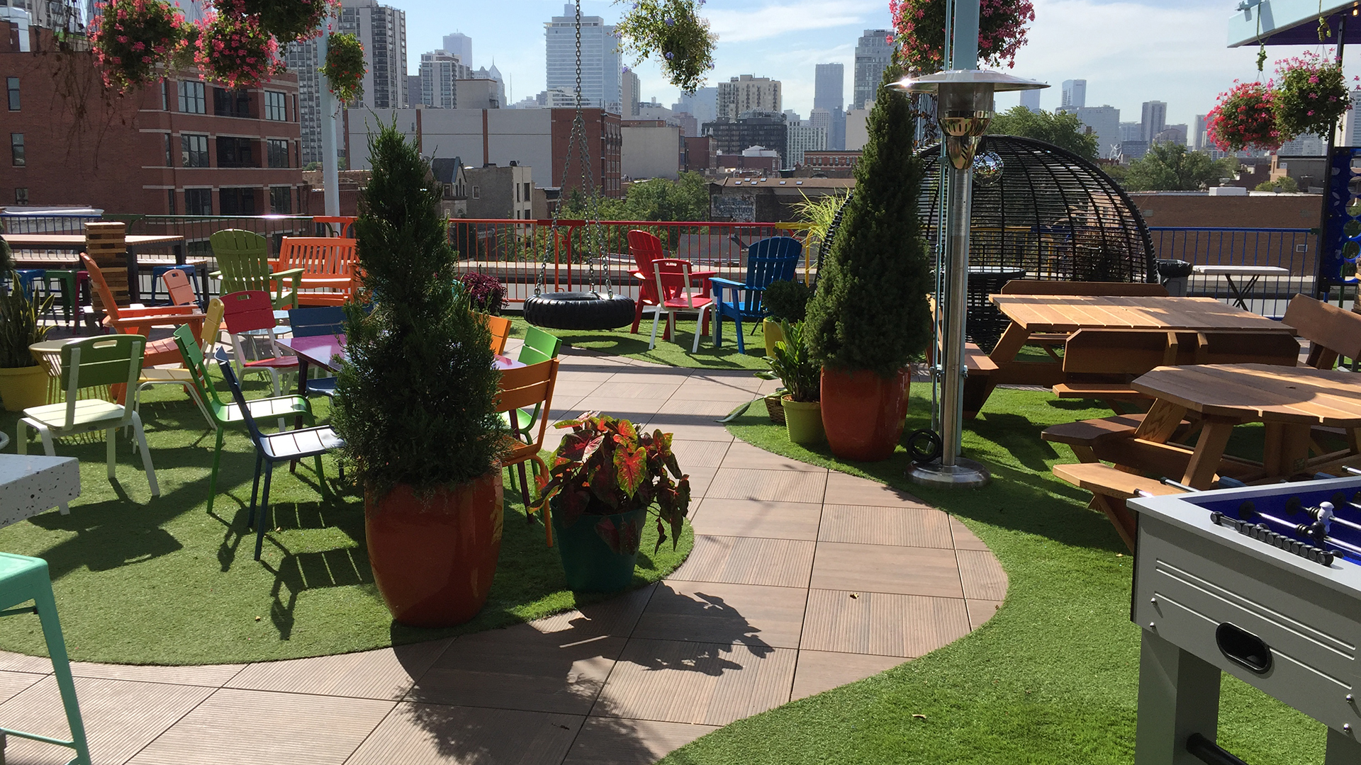 artificial grass rooftop Indiana