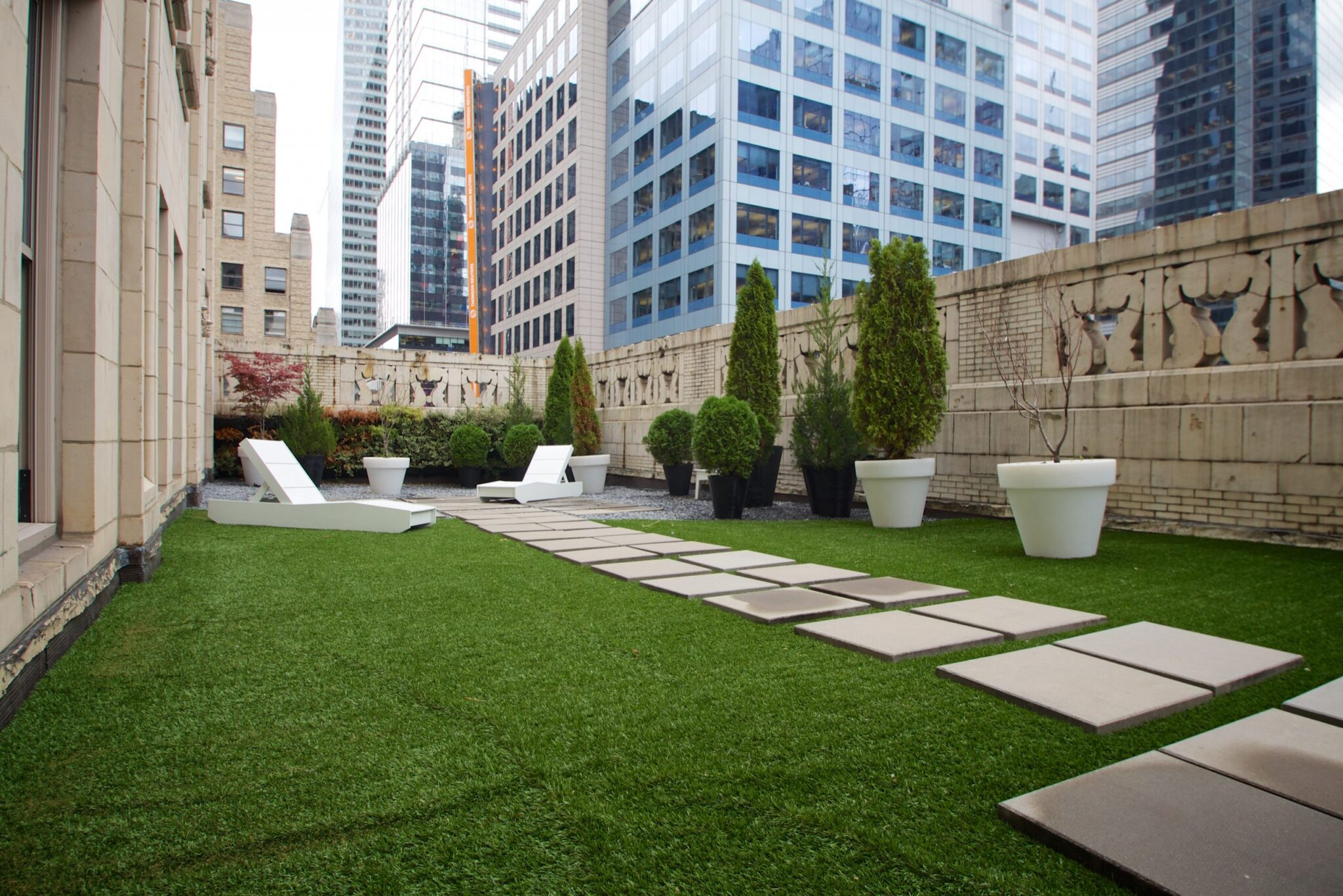 artificial grass from rooftop