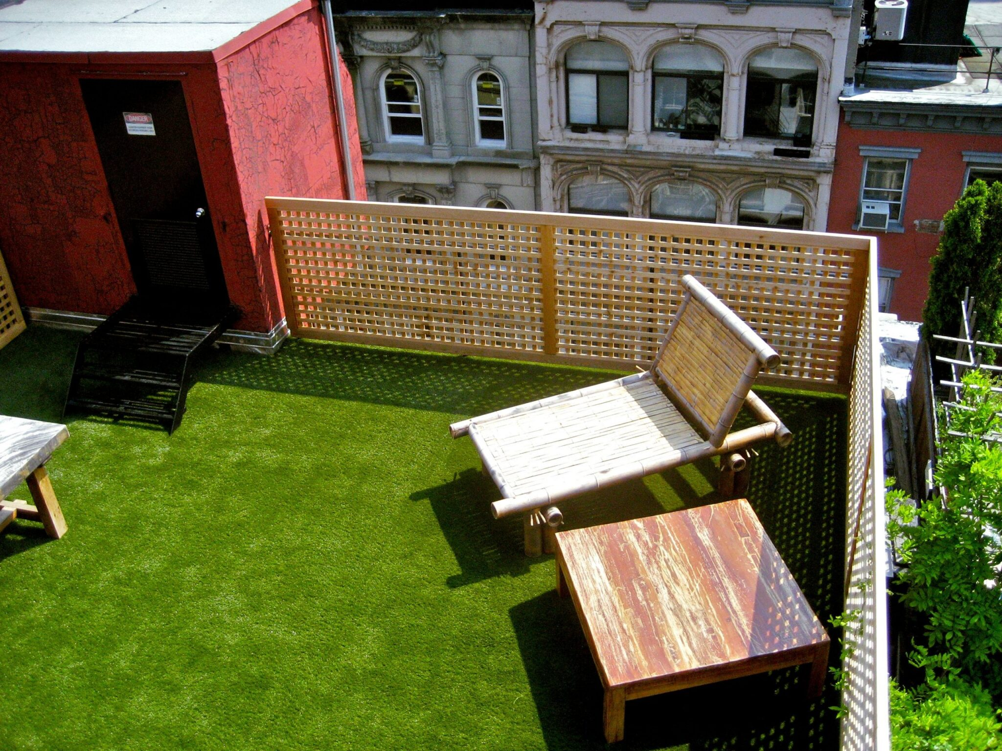 rooftop in indiana with artificial grass