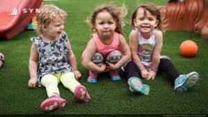 Artificial grass for kids playground