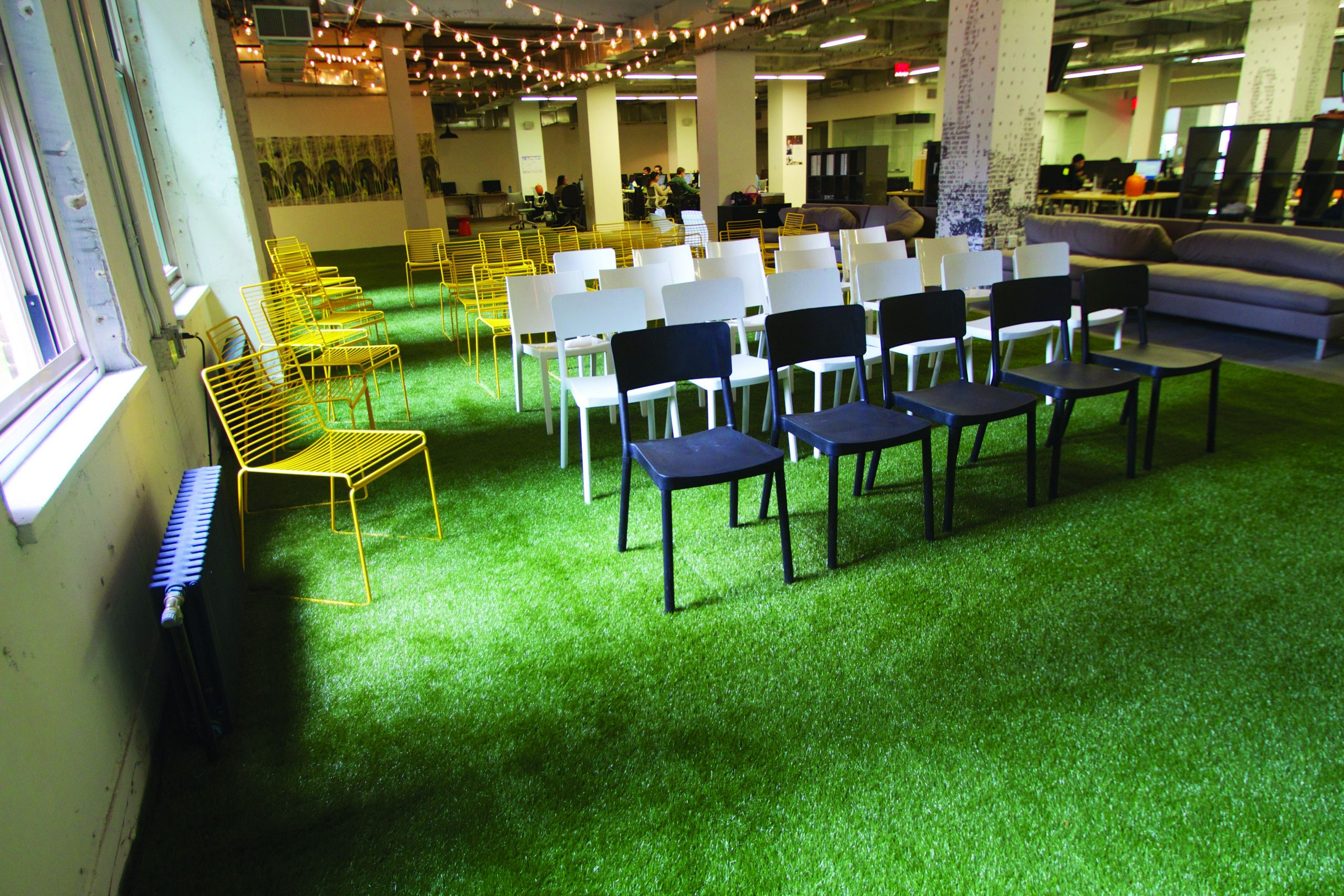 Commercial lawn, artificial grass for indoor use