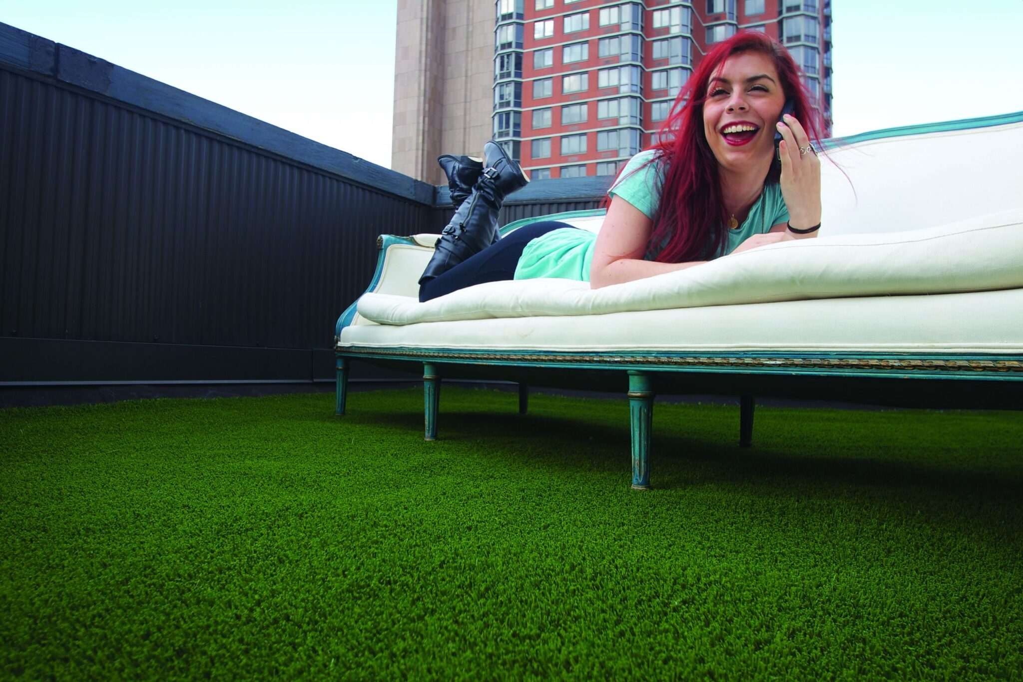 artificial grass Indiana residential rooftop