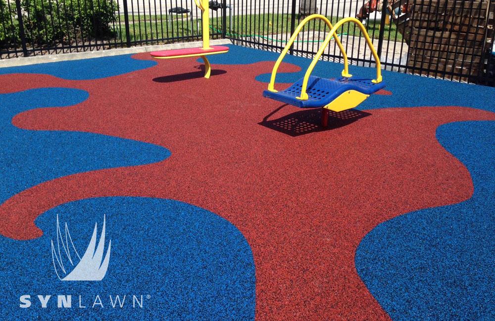 playground artificial grass, turf install
