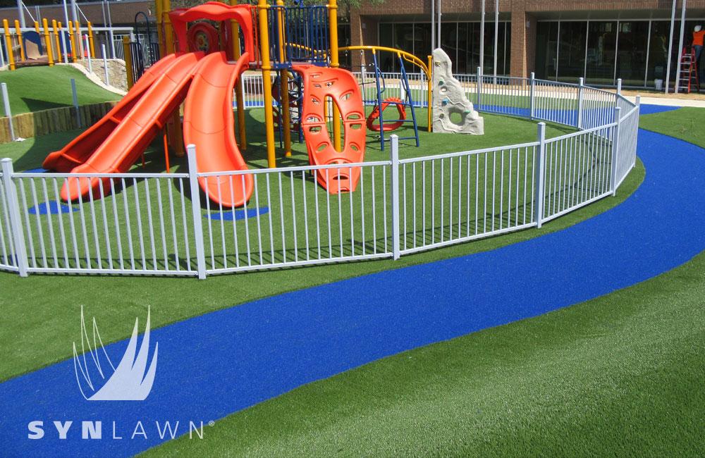 artificial grass playground near me