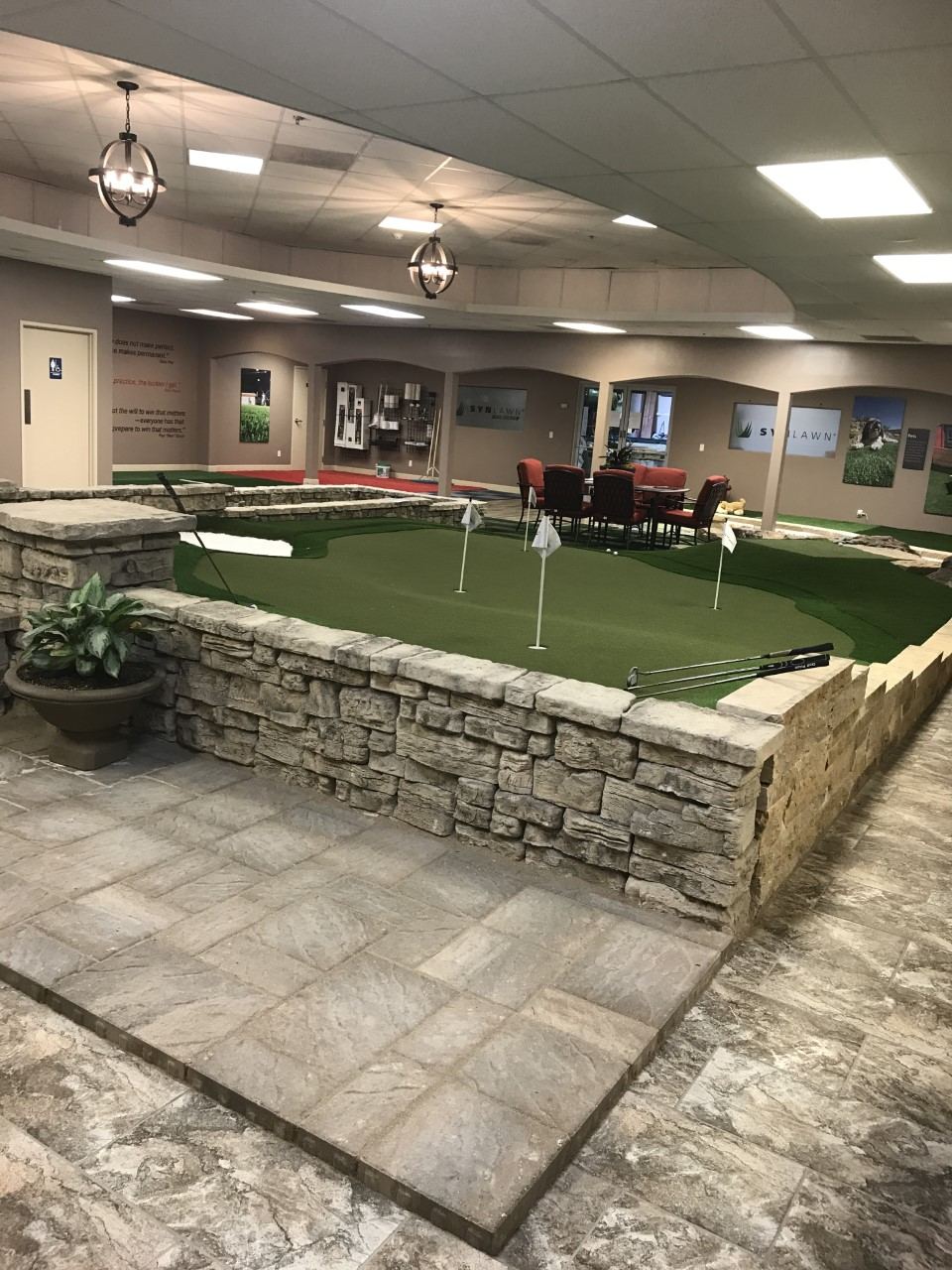 commercial putting green indoors