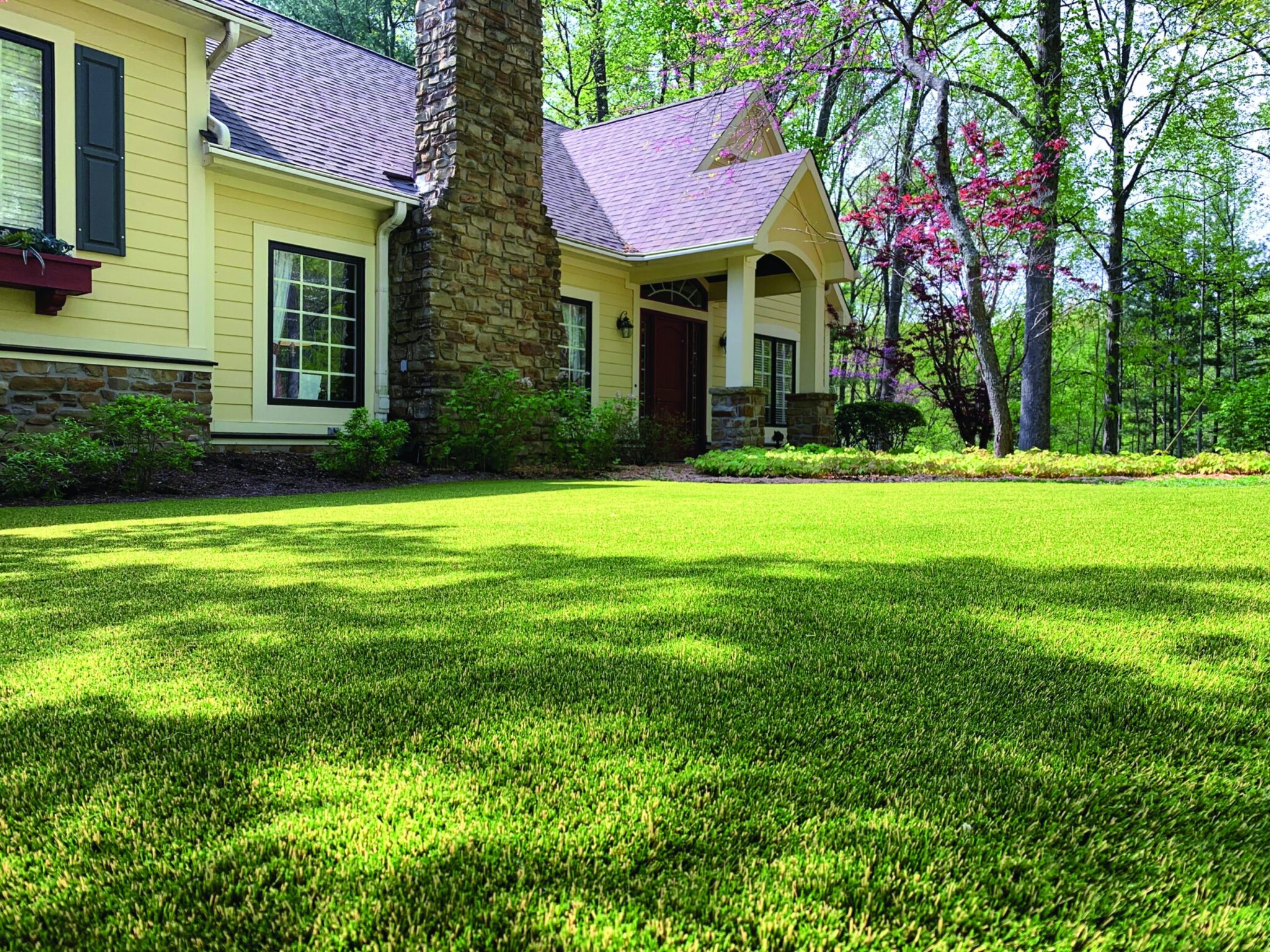 Indiana home residential artificial grass