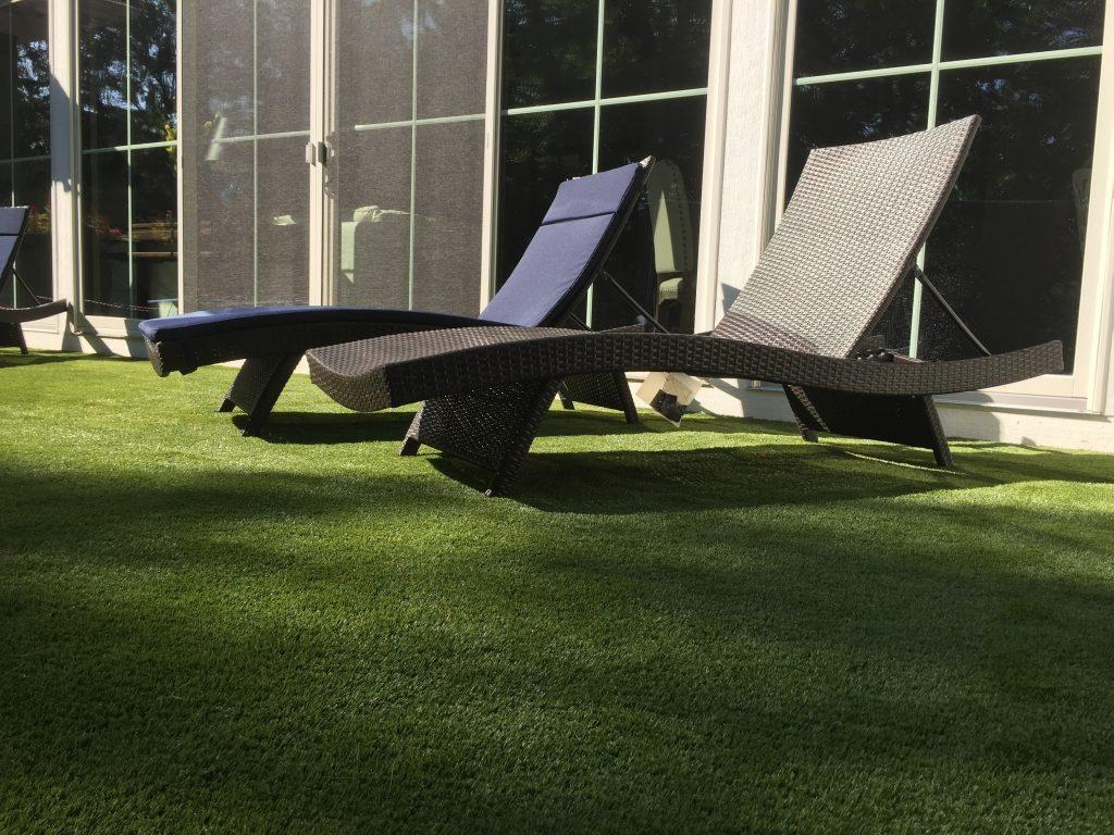 residential rooftop artificial grass