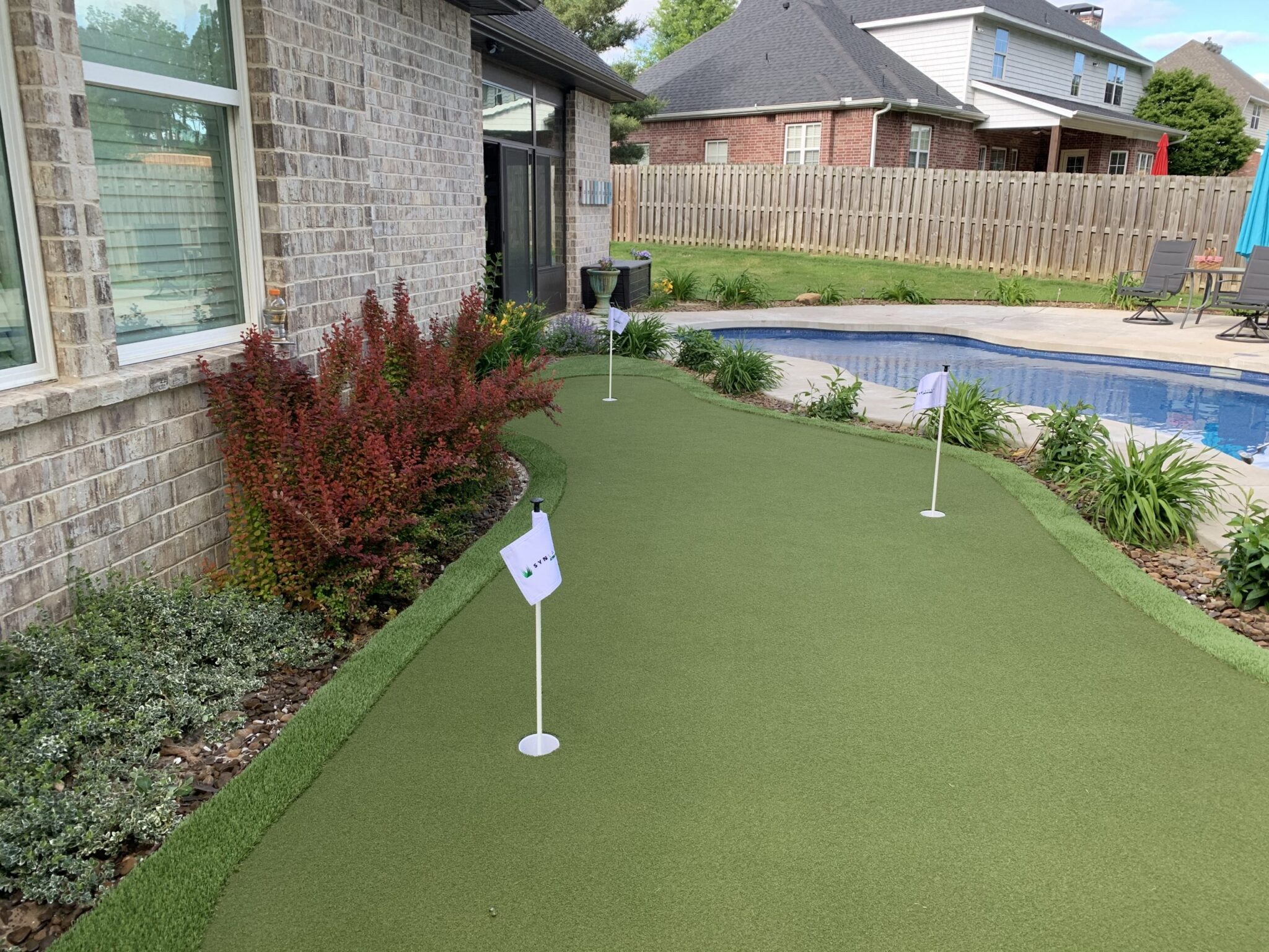 Pet turf install for residential home