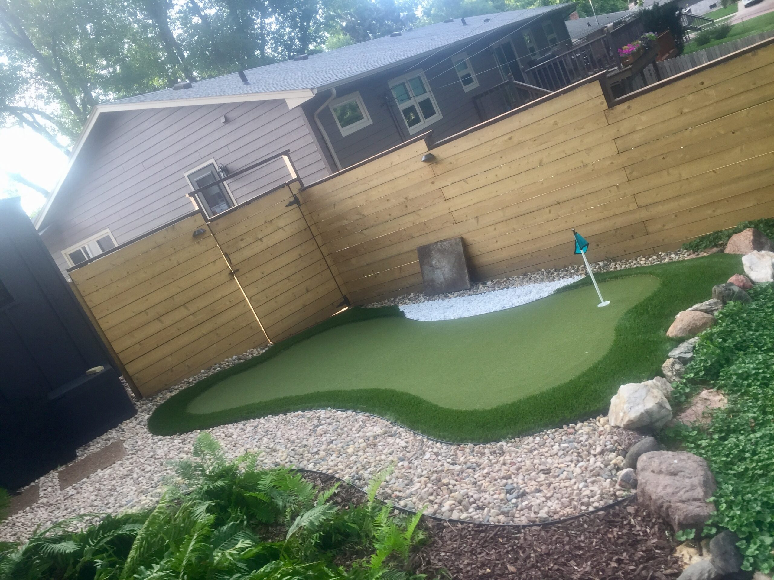 putting green residential backyard in Indiana