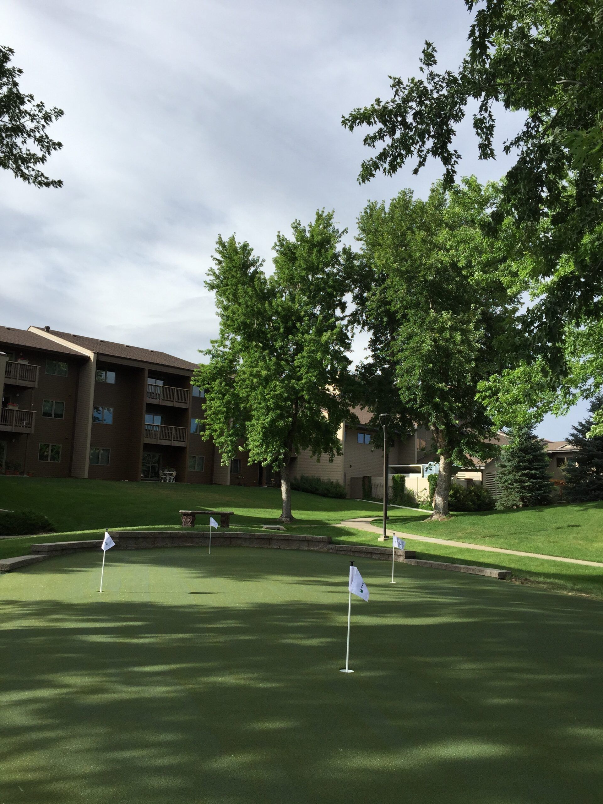 residential putting green, community