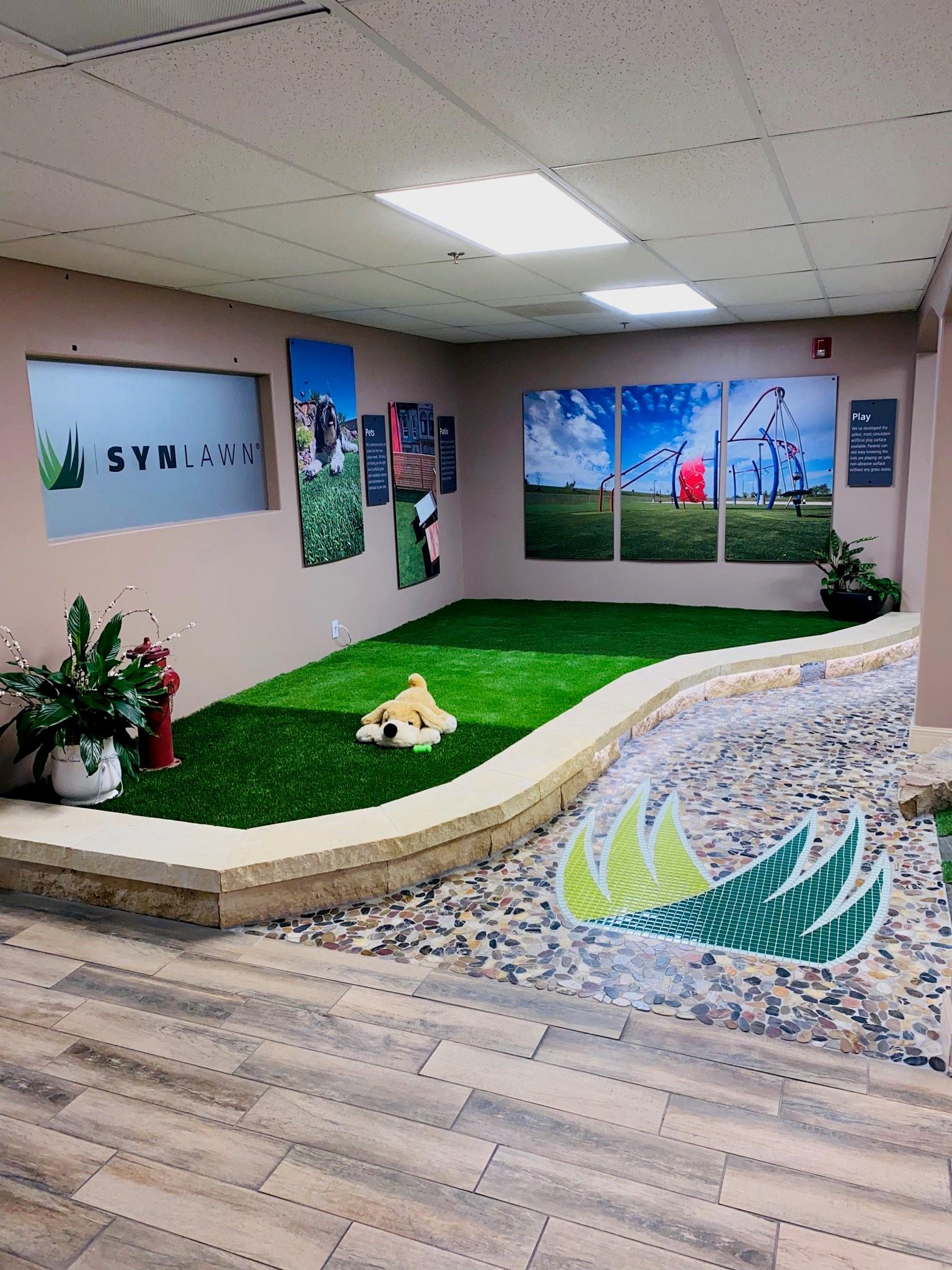 pet turf for interior showroom