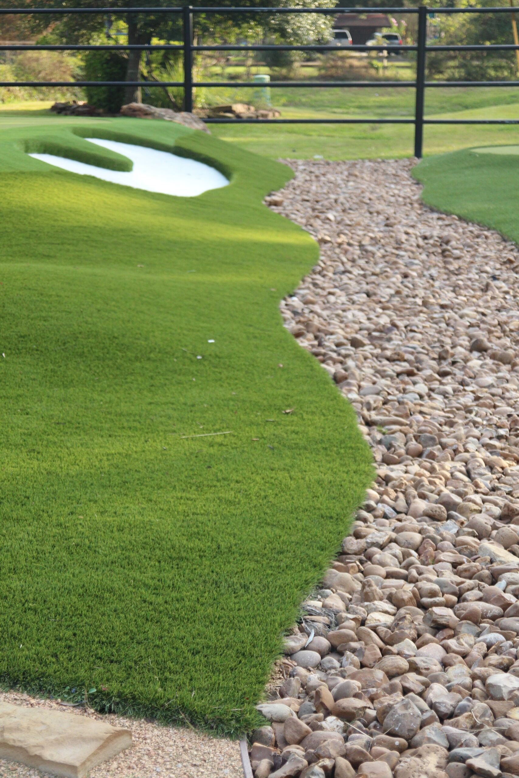 community putting green with artificial grass