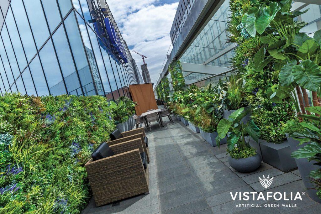 vistafolia, Indiana artificial green walls