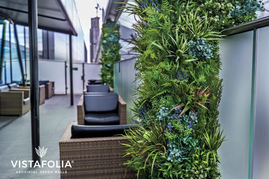 vistafolia, artificial green walls exterior
