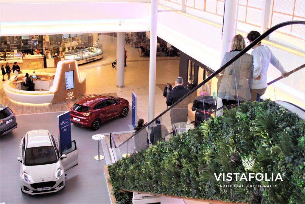 commercial mall, artificial green walls, vistafolia