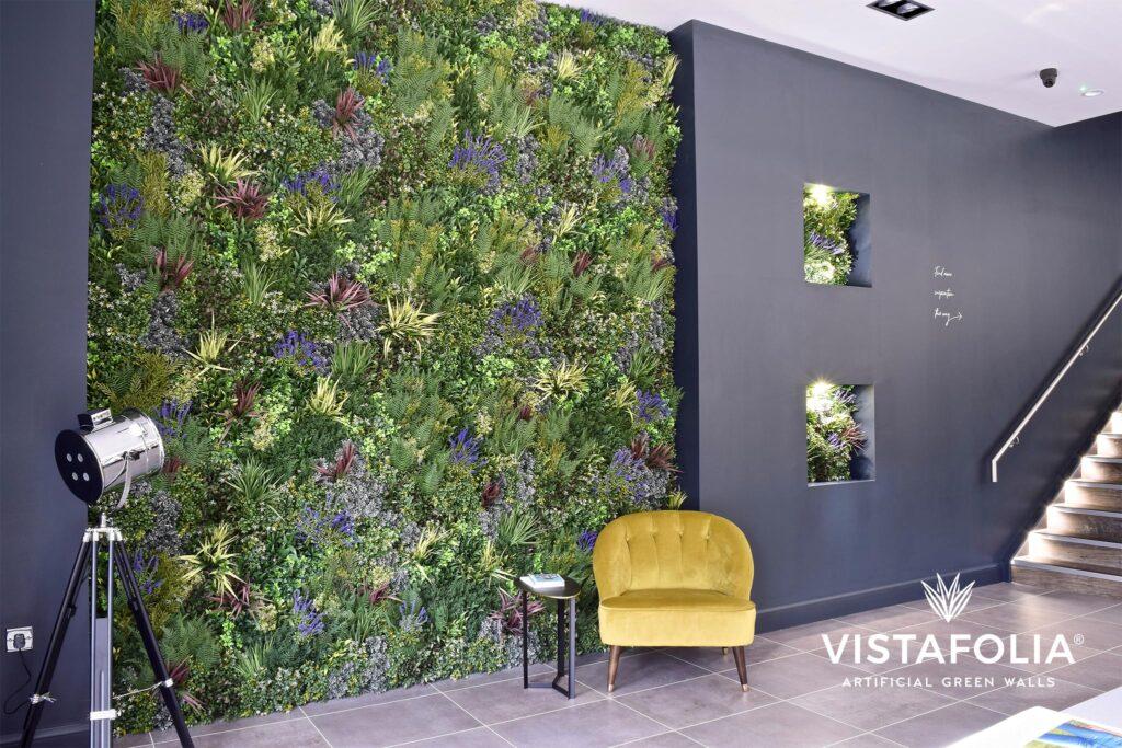 vistafolia artificial green wall, commercial space