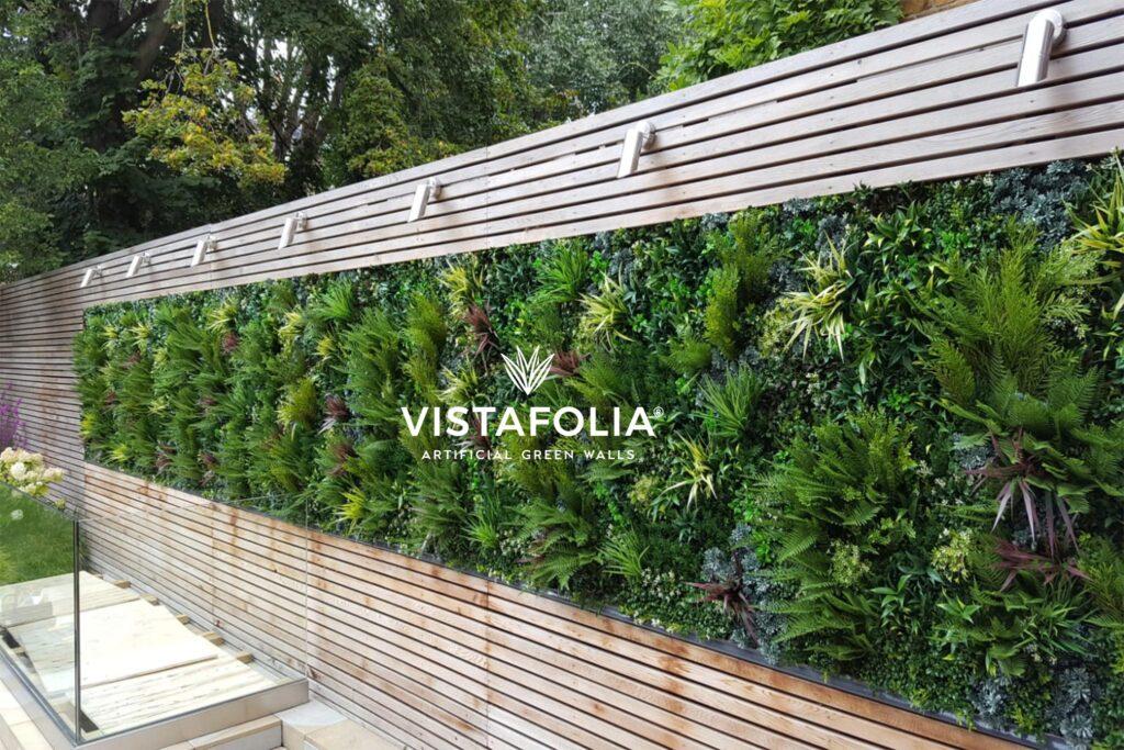 artificial grass on walls, vistafolia exterior space