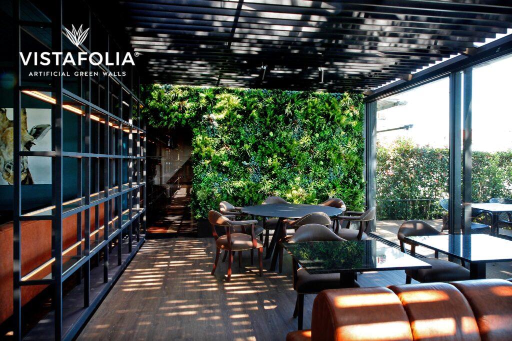 vistafolia, restaurant vistafolia green walls